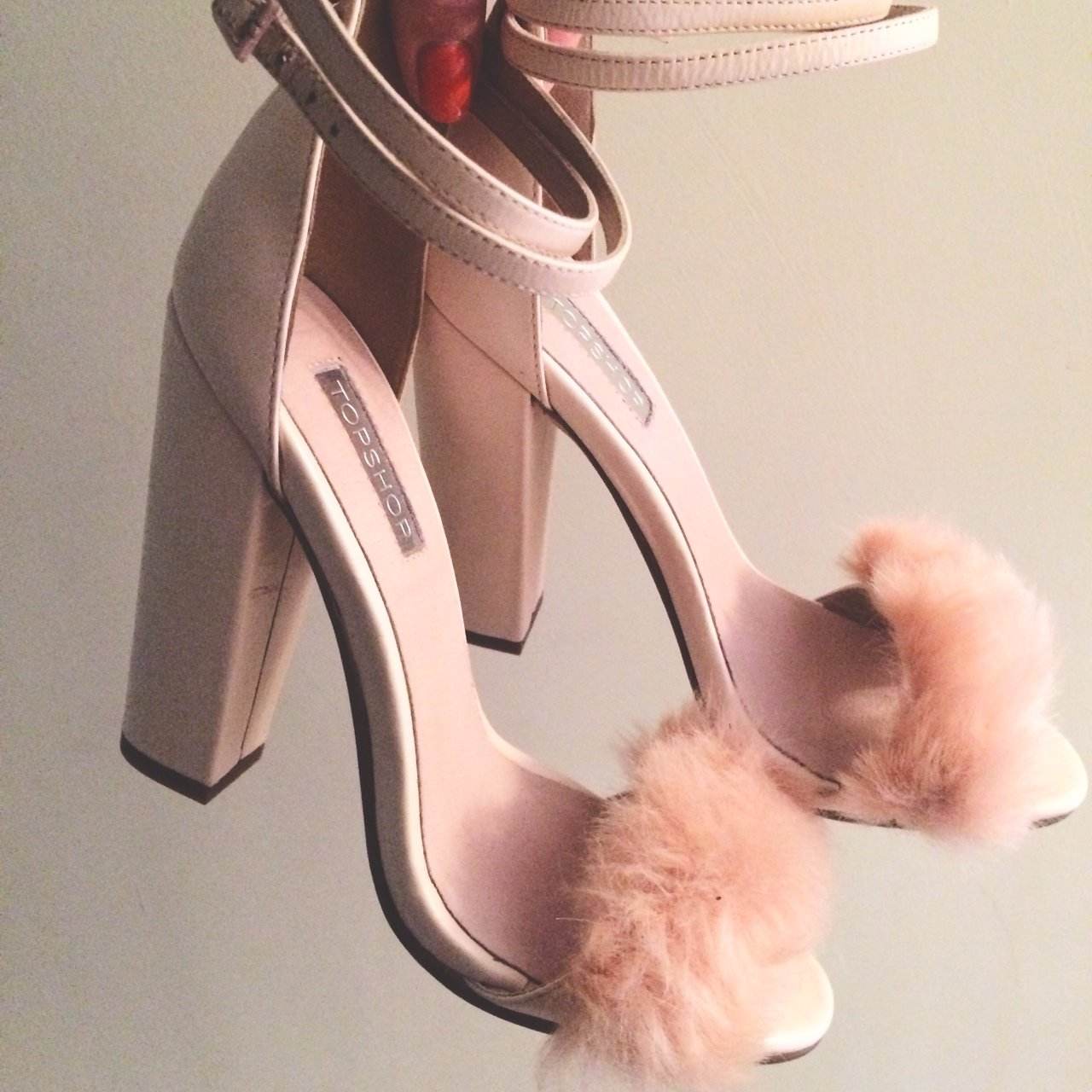 0512f4854ec54 Topshop Pink Fluffy Shoes. Size 4. Brand new- unworn and in - Depop