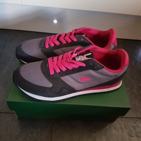 9aa465bd6fb2 Lacoste trainers... So I m selling these Lacoste trainers a - Depop