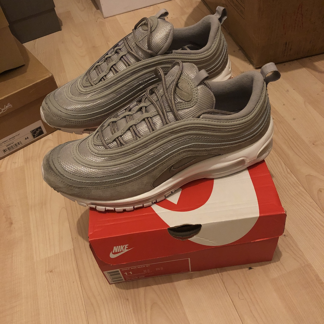 NIKE AIR MAX 97 COBBLESTONE WHITE EXCELLENT Depop