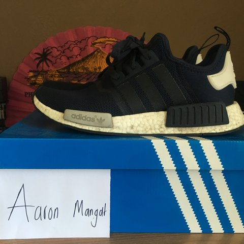 77348a33d6f0d Adidas NMD R1 in the navy colour way. Size UK 9 US 9.5. Come - Depop