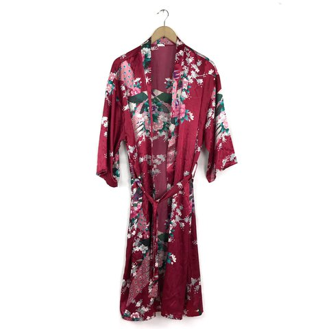 Silk kimono   robe. Made in Vietnam with beautiful peacock - - Depop b62a4b14d