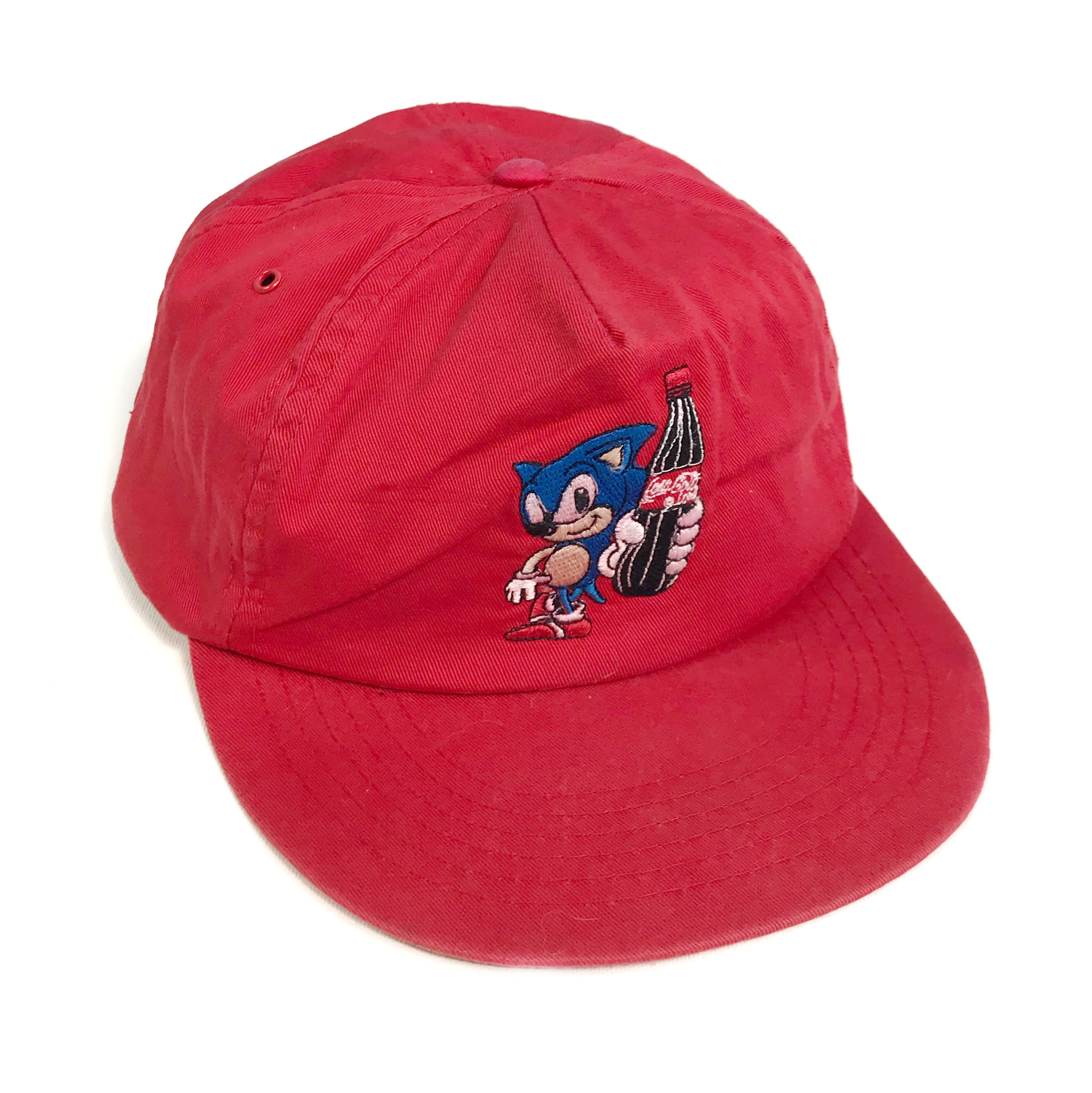 Super Rare 90s Coca Cola X Sonic The Hedgehog Hat Depop