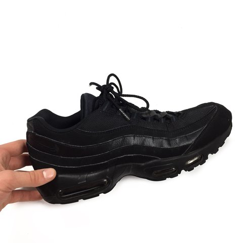 e5db49f4d59c40 NIKE AIRMAX 95 TRAINERS Triple black. Size Men s UK 11. and - Depop