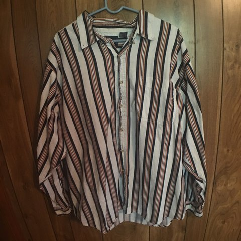 77c5b50effd collared button up striped shirt. very 90 s