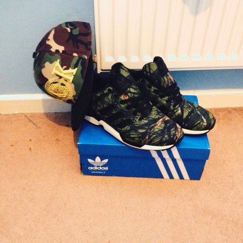 ae801f84449 Brand new limited edition camo adidas flux size 9 with a new - Depop