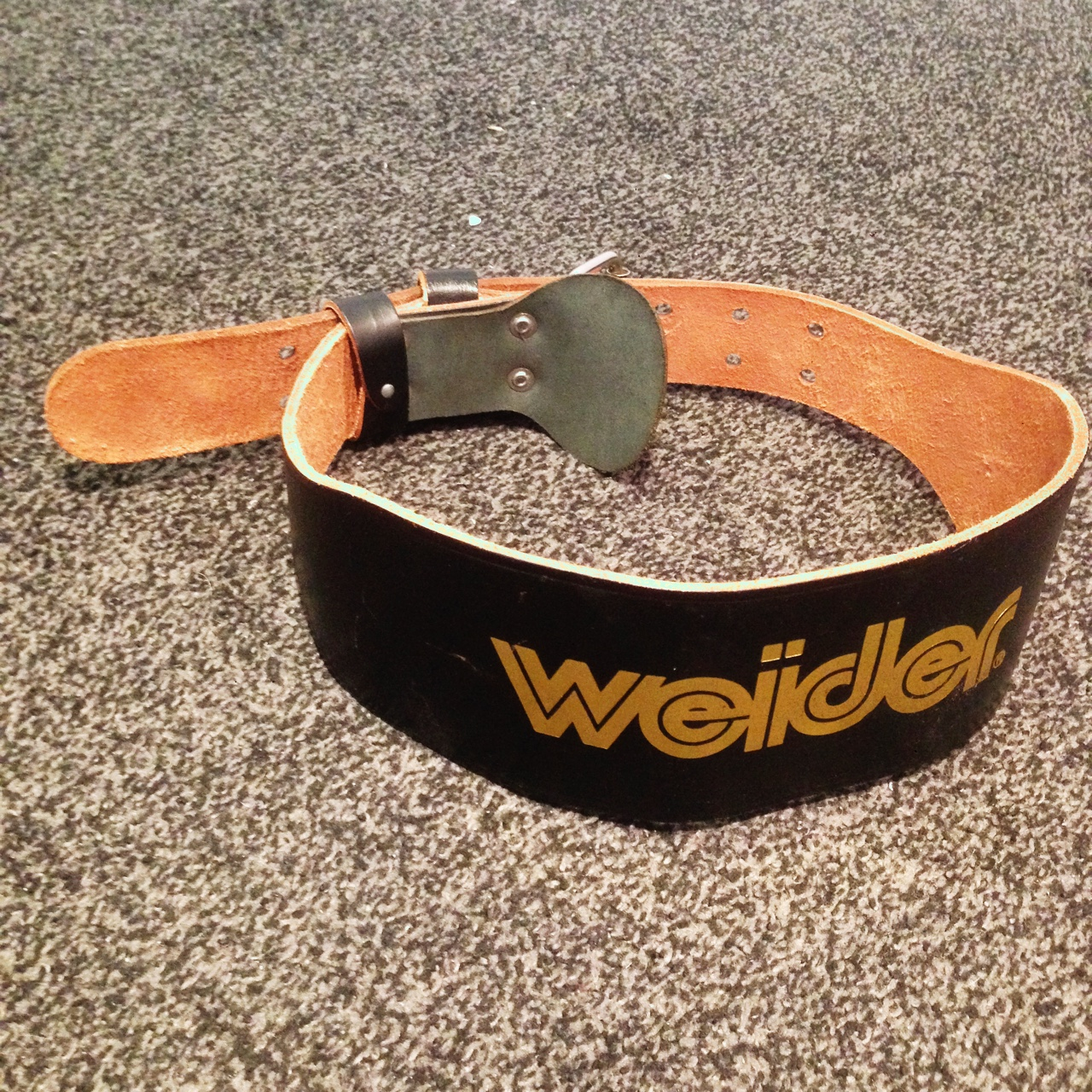 Weider Weight Lifting Belt Leather Perfectly Fine Depop