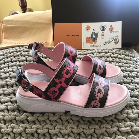 f41d11c1f815 Louis Vuitton Harbor sandal from Resort 2016 collection. LV - Depop