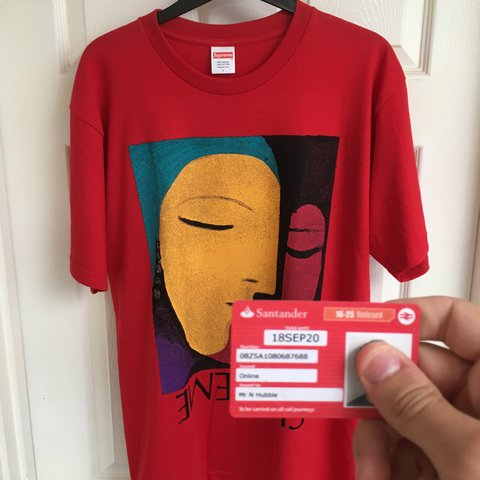 680afec13de9 Supreme ss17 abstract tee in red t-shirt Picasso Brand new - Depop