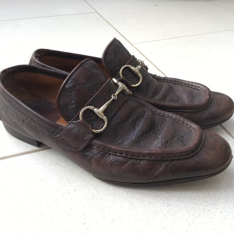 409ae5e20 @marcusbrucey. 2 years ago. United Kingdom. Gucci Horsebit Loafers fully  embossed in Gucci logo ...