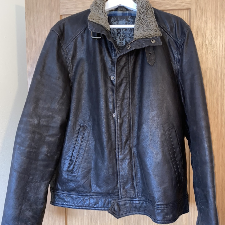 Austin Reed Leather Jacket Very Good Condition Depop
