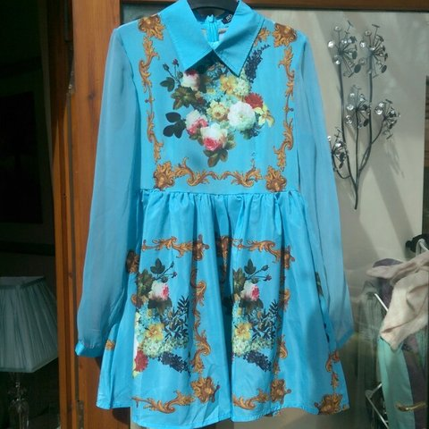 3255add6f85 Size S (8-10) blue turquoise Romwe dress