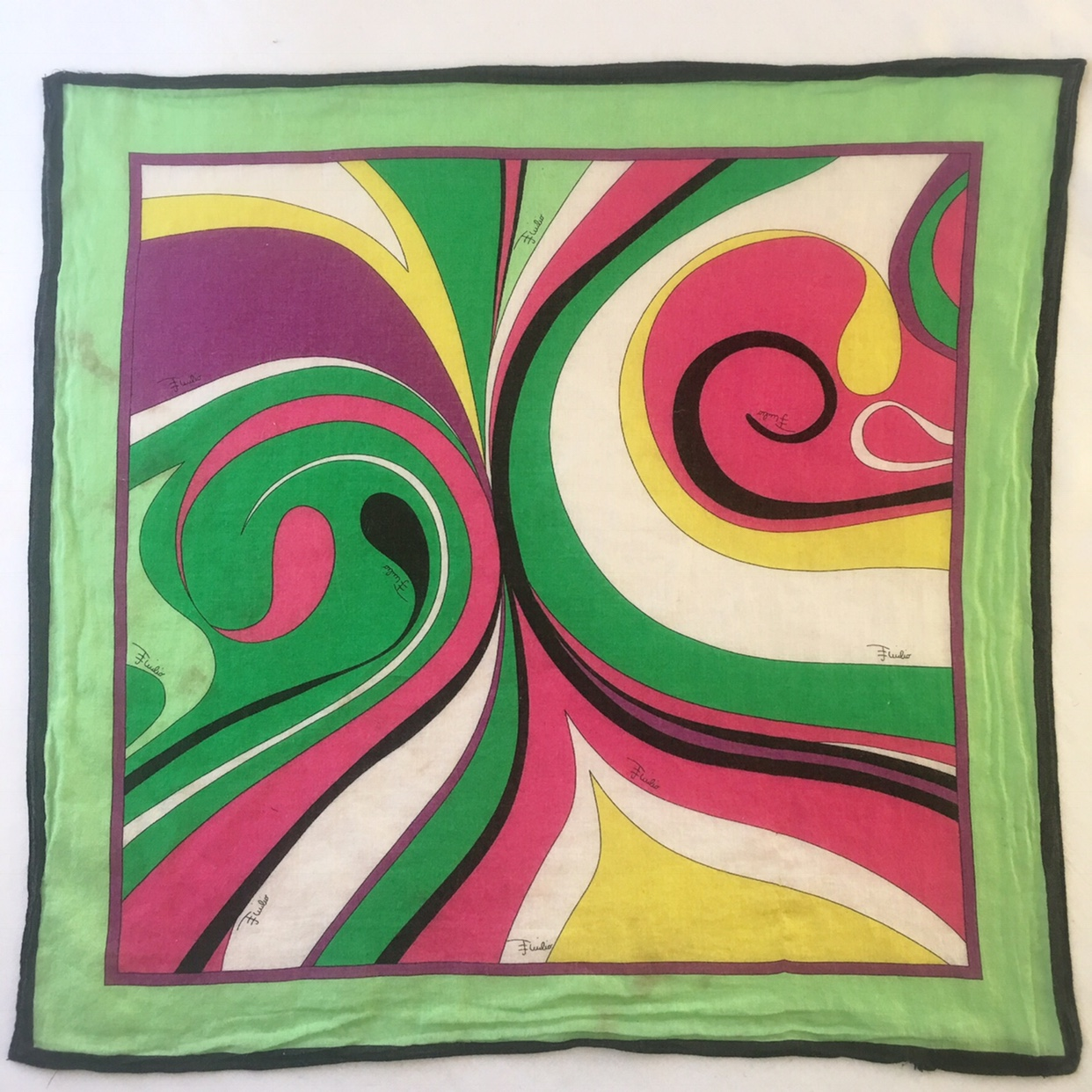 buy online 1e4b4 ca558 Vintage Emilio Pucci Firenze scarf! Lime green, hot... - Depop