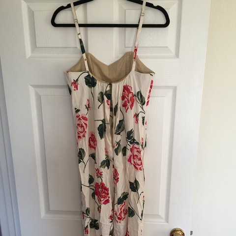 7ab55f77e5d Stone Cold Fox floral Jerry jumpsuit. Minor marks at front a - Depop