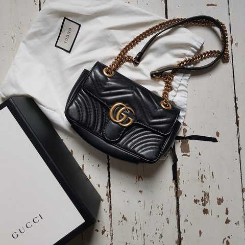 711cb918dfcf GUCCI MARMONT MINI BAG Absolutely stunning quilted leather - Depop