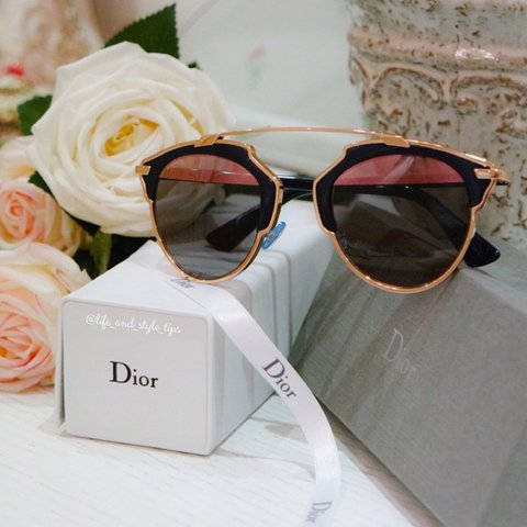 2694de60c84c9 Dior So Real sunnies in rose gold and navy✨ like brand new ✨ - Depop