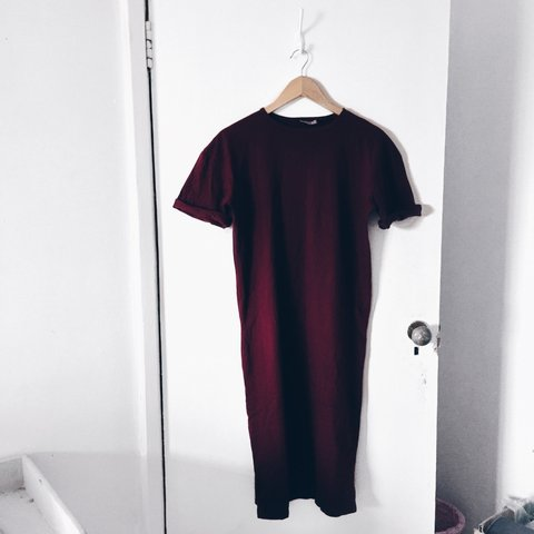 d66fade2387 ASOS Ultimate Midi T-Shirt Dress With Rolled Sleeves in   - Depop