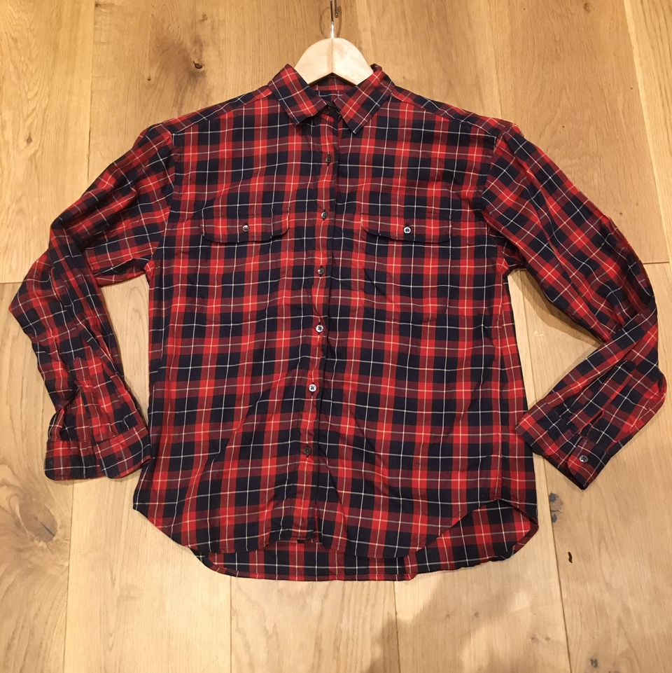 Vintage 80 90 S Austin Reed Red Checked Cotton Depop