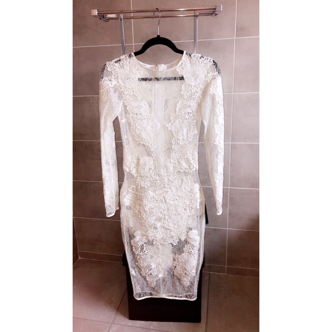 House Of Celeb Boutique Nolita White Lace Dress Depop