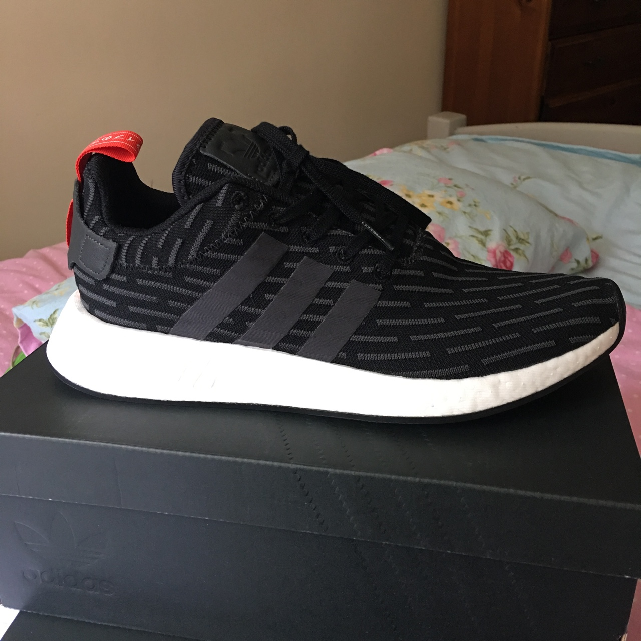 buy online a7bea 57ea2 Adidas NMD R2 brand new in box. Unworn and... - Depop