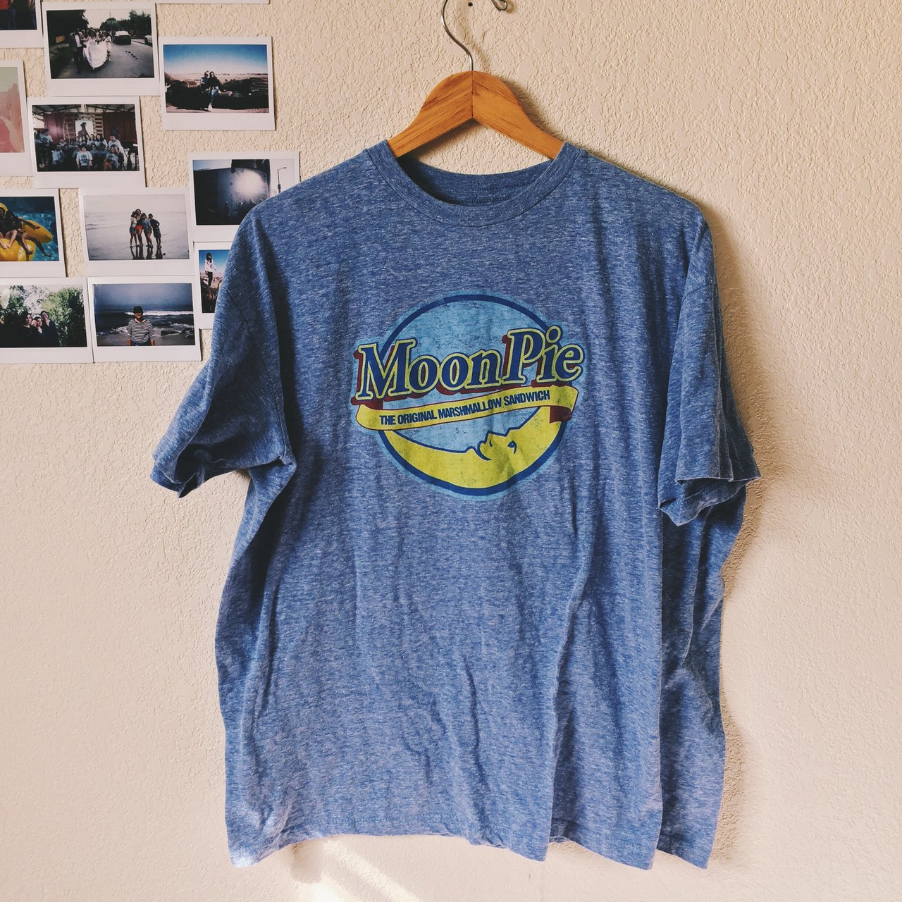 Gimme Some Moon Pie Shirt Comes In A Light Blue Color On Depop