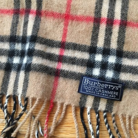 68b702c2fd12 @nycshred. 7 months ago. New York, United States. Vintage Burberry scarf.  100% Cashmere and made ...