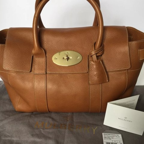 7546f4886b Brand new Mulberry small Bayswater Buckle in oak natural on - Depop