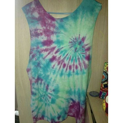 74a7c0da6 Tie dye t-shirts/vests for sale! All sizes available for men - Depop