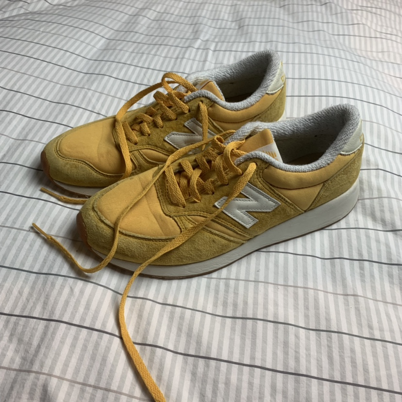 New Balance 420 Sneakers in Yellow! These mustard...
