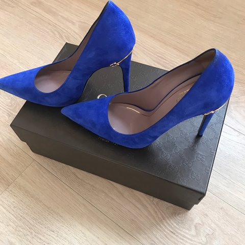 83520223d732  arianeglover. last year. Luxembourg. Gucci pumps cobalt blue
