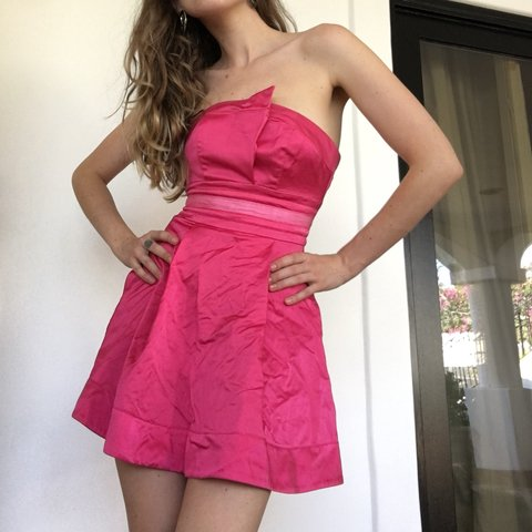 Pink Strapless Mini Dress