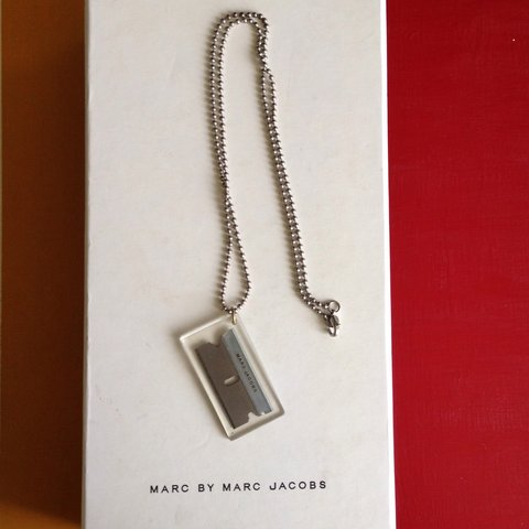Marcjacobs razor blade necklace worn by lil wayne in his depop marcjacobs razor blade necklace worn by lil wayne in his depop altavistaventures Images