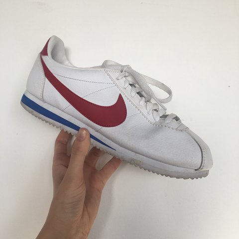 7522acd04b596 Gorgeous leather Nike Cortez in the classic Forrest Gump red - Depop