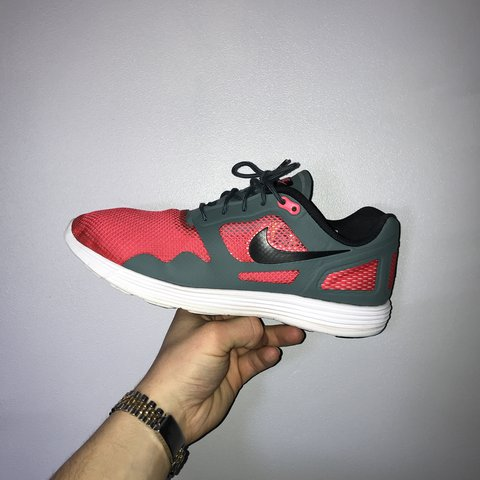 best sneakers a9ff6 b51fd  samsnape96. last month. Burnley, United Kingdom. Men s Nike Air Max Lunar  Flow Flex grey and red ...