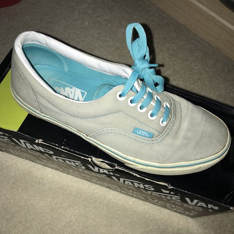 3dbf1a9ec7 Grey vans with blue laces. Size 6. Open to offers  adidas - Depop
