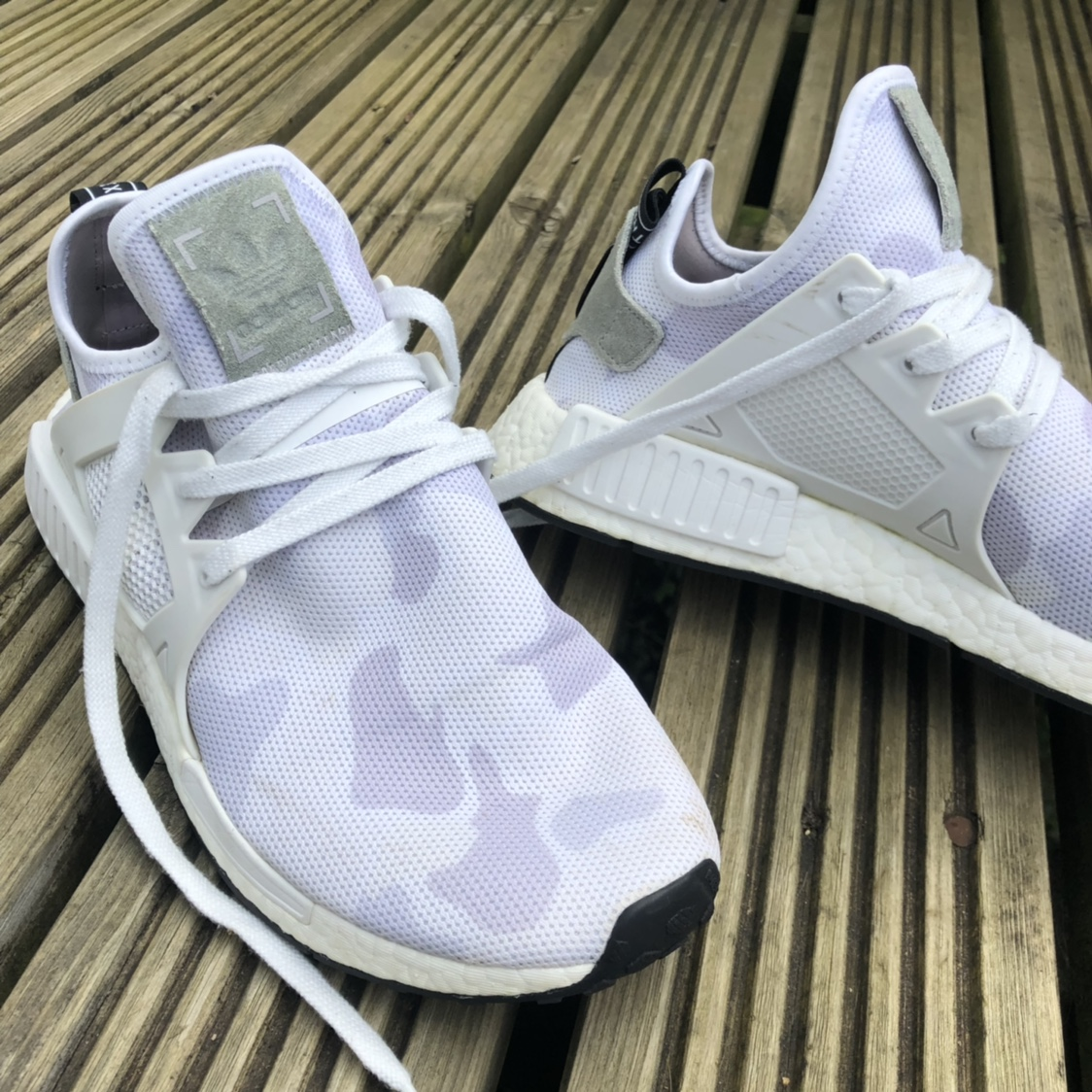 free shipping 0240a 63187 Adidas NMD XR1 white duck camo uk size 9.5, barely... - Depop
