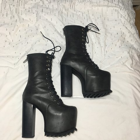 67b8bf5ee02b Big ass Nola boots from dollskill by current mood. These are - Depop