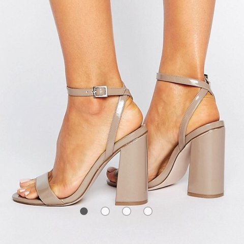 4cbde4c1212 ASOS Hampstead high heels in patent taupe size 6. Perfect as - Depop