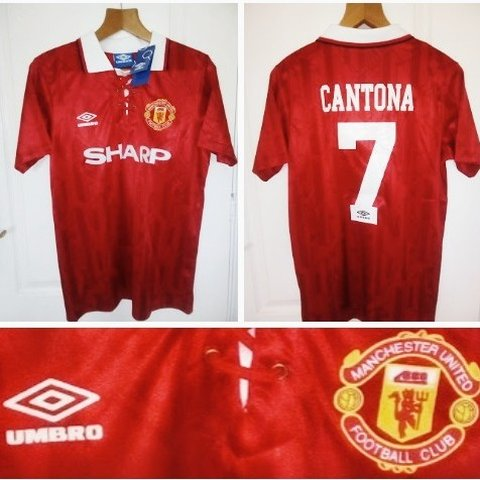 686f32d0923 1992 1994 Manchester United Reproduction Home quality remake - Depop