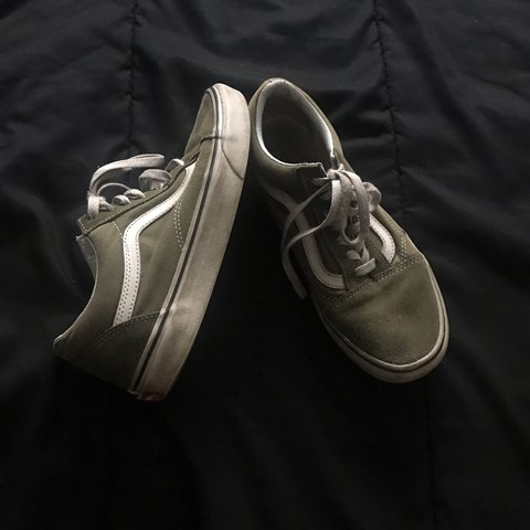 09a75bc381 Vans in an olive green color women s 7.5 mens 6