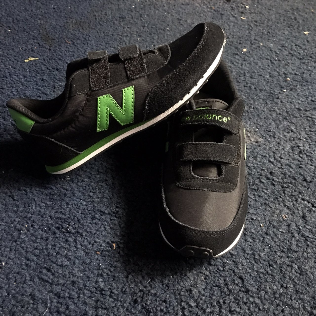 New Balance 410 strap on shoes in green white and black. new - Depop 5d5637be1