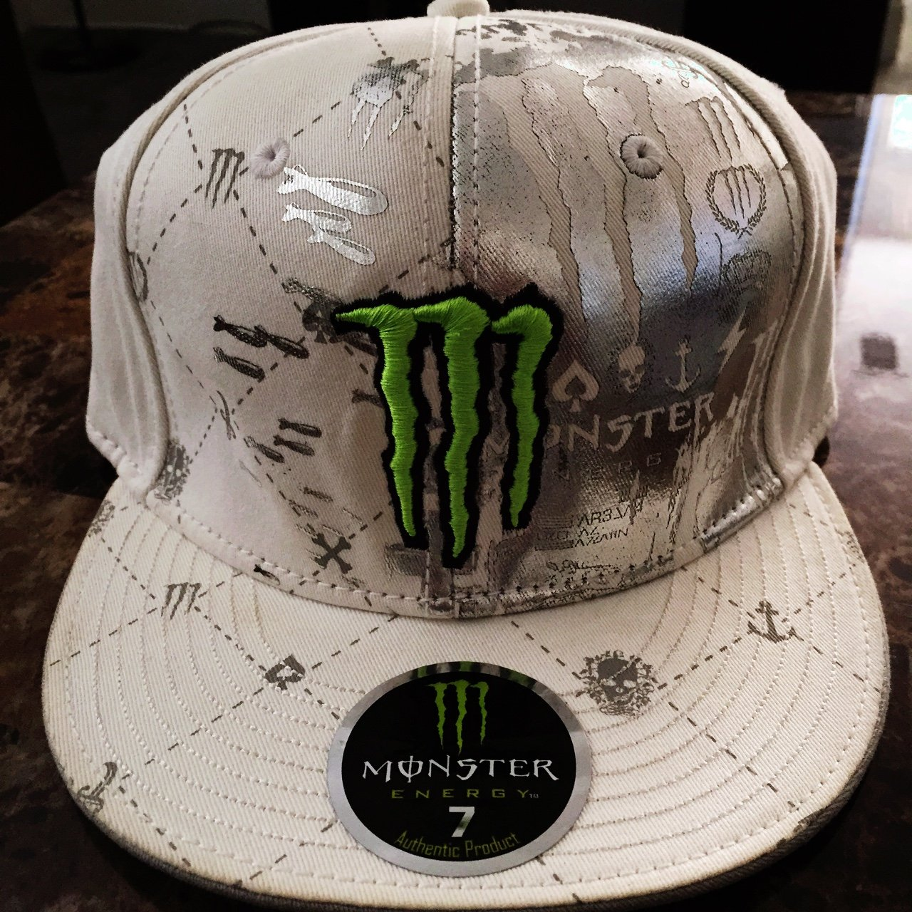 Monster Energy athlete product hat. Size 7 but fits big - Depop 99534a083ef