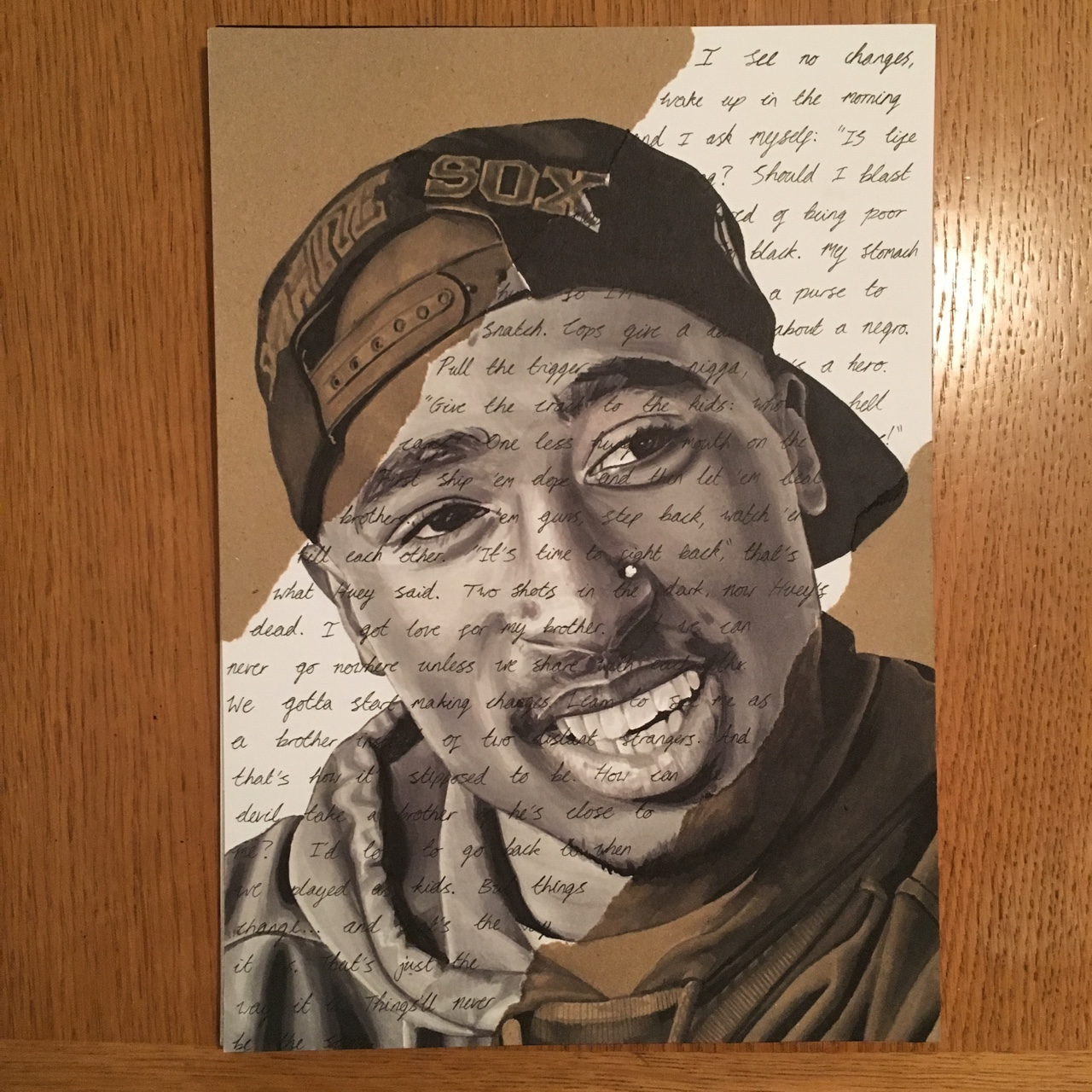 Original Tupac Shakur drawing A4 size  Drawn by me    - Depop