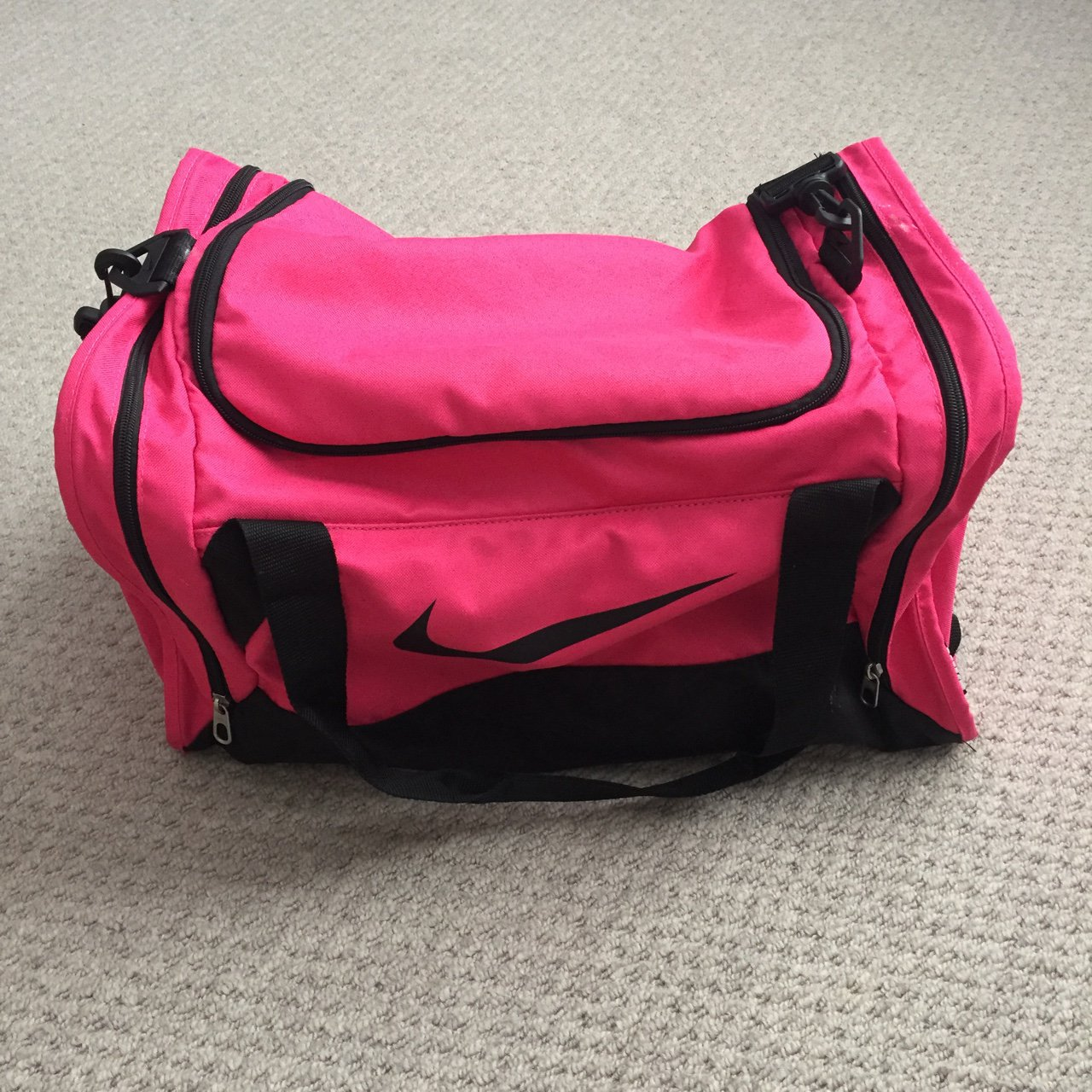 Nike  pink  hold-all  gym  bag  hot pink  gymbag  sport of - Depop 6918ea6b9