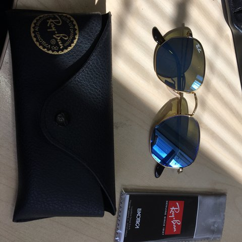 ff8f31ec2e Ray ban mirrored blue tint sunglasses bought from Danyounguk - Depop