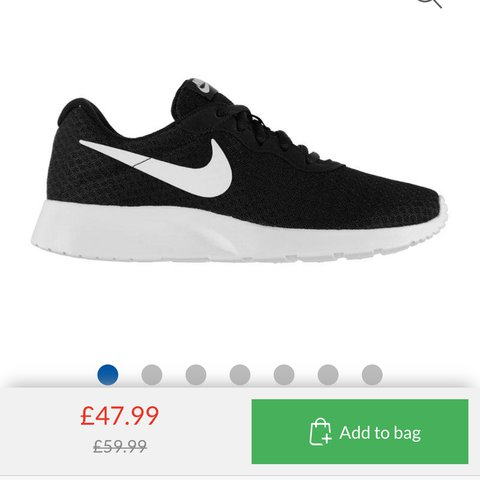 7b6634e663b Nike Tanjun UK size 6 (would fit a 5) black white with a for - Depop