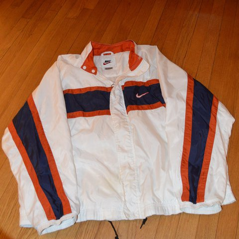8304806609 Vintage Nike Windbreaker Condition  8 10 (small mark shown - Depop