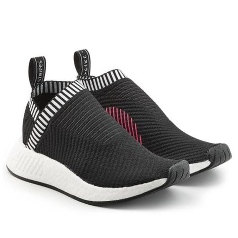 116d4c3374fe1 Adidas NMD cs2 Primeknit in Core black running sneakers   W  - Depop