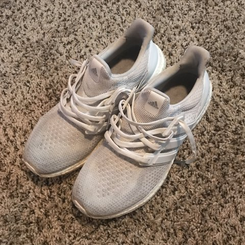 861d364b3aac2 Adidas Ultra Boost 2.0 Triple White. Condition 8 10. Worn be - Depop