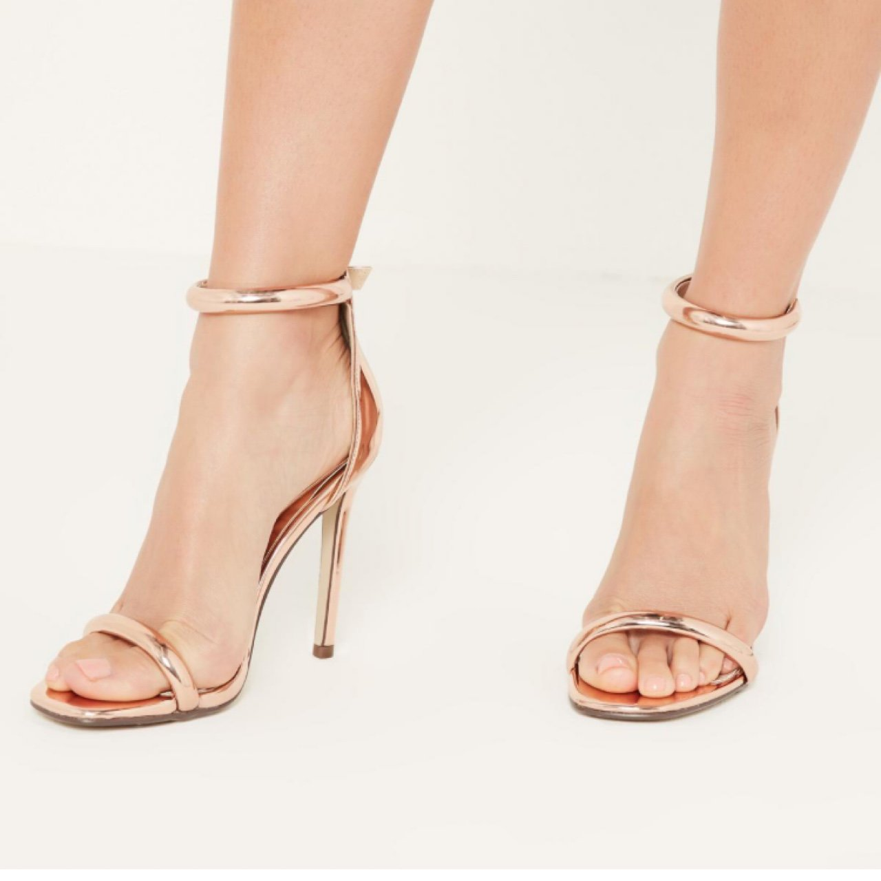 7d81c2a5c6 Rose Gold heeled sandals 👠 bought from Missguided however I - Depop