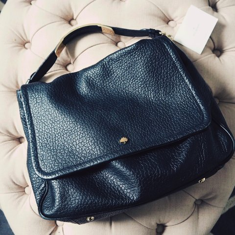 Mulberry Evelina Satchel black leather bag in a good used is - Depop 108e5ffd959d6